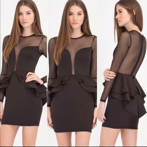 Peplum mini dress 👗 SZ S